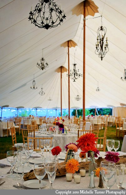 ocean side tented wedding
