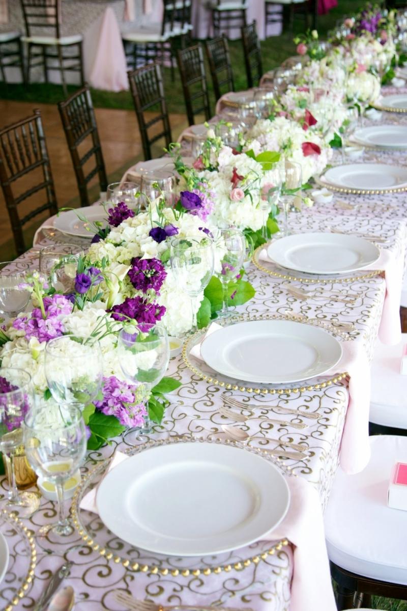 long floral arrangement