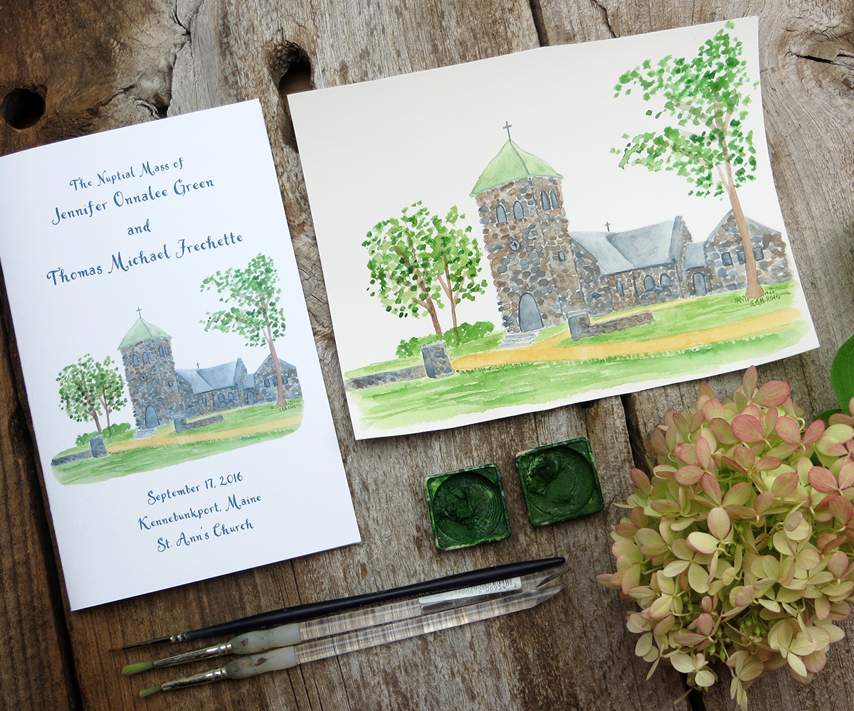 Maine Wedding Planning Invitations Watercolor Sweetest Thing Weddings